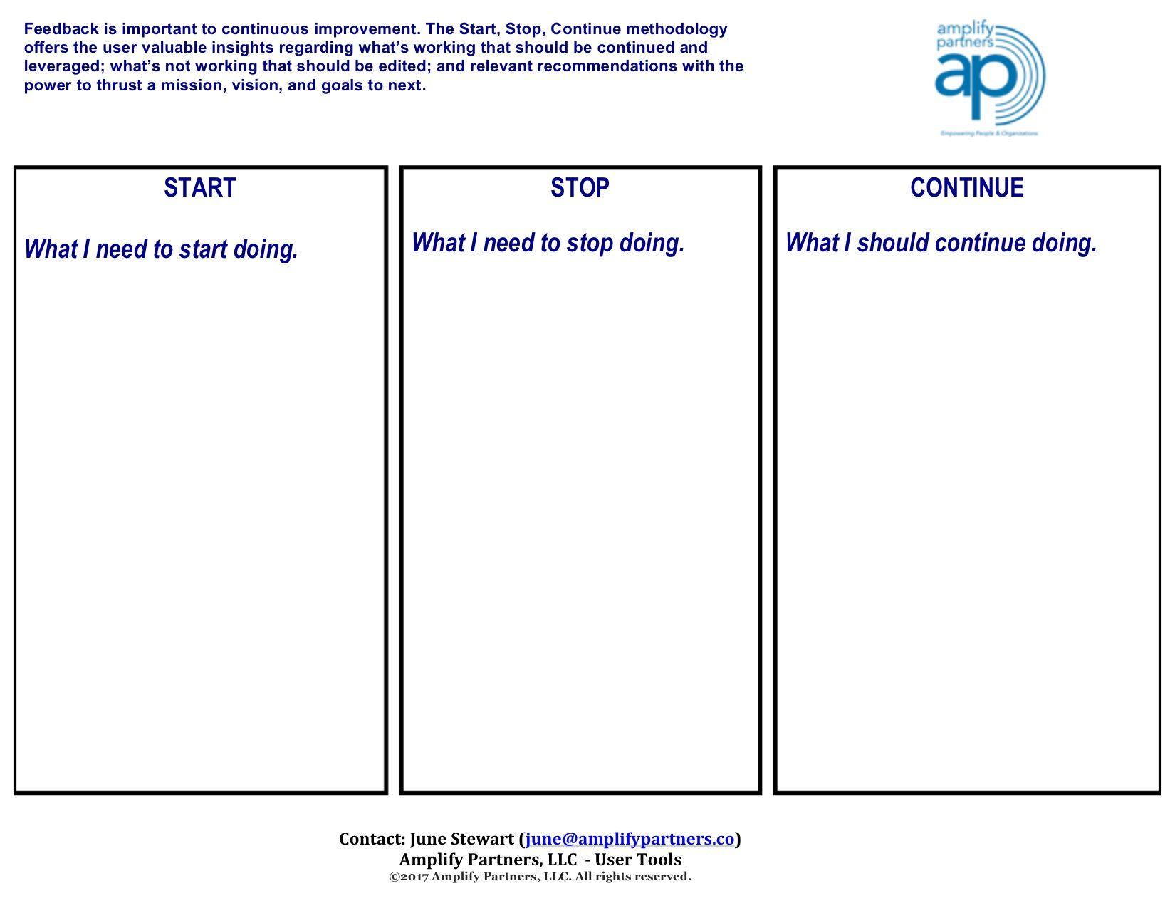 Start stop continue template images template design ideas for Start stop continue template
